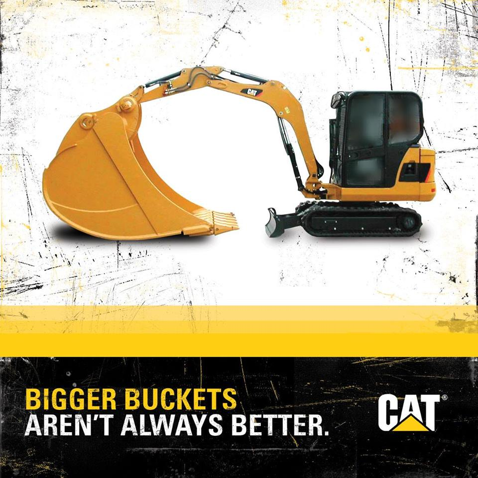 excavator bucket selection